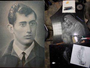 ручная гравировка портрета и иконы на памятнике
